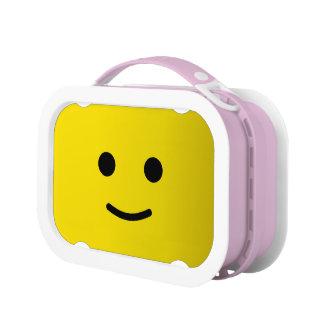 Geel Gelukkig Gezicht Smiley Lunchbox