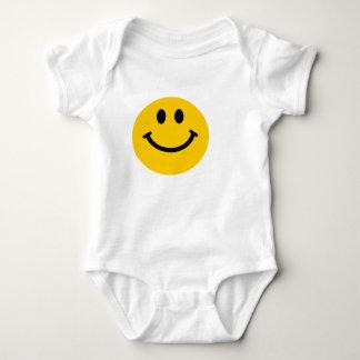 Geel gelukkig het babyoverhemd van het romper
