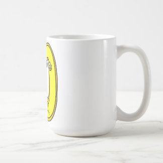 geel gezicht 50, it 's only a number koffiemok