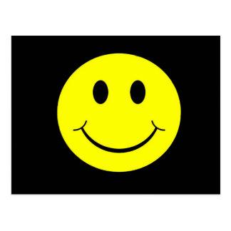Geel Gezicht Smiley Briefkaart