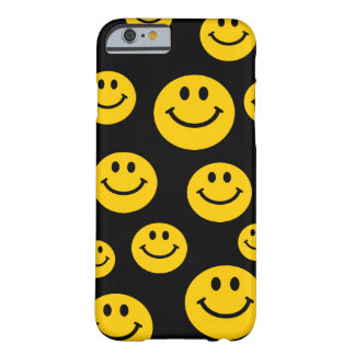 Geel Gezicht Smiley Barely There iPhone 6 Hoesje