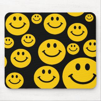 Geel gezicht Smiley mousepad Muismat