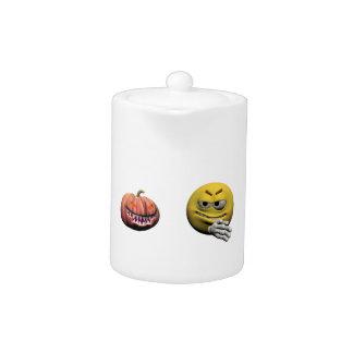 Geel Halloween emoticon of smiley