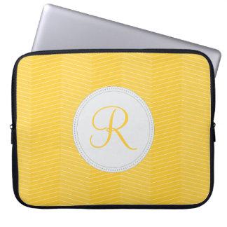 Geel Laptop van het Monogram Sleeve