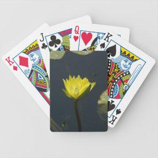 Geel Lotus Waterlily & de Speelkaarten van Poker Kaarten