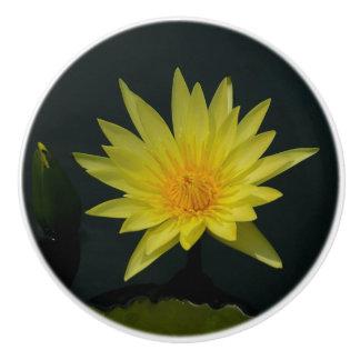 Geel Lotus Waterlily Keramische Knop