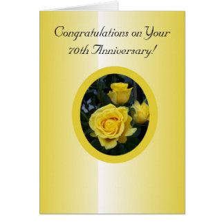 Geel nam het 70ste Jubileum van het Huwelijk toe Wenskaart