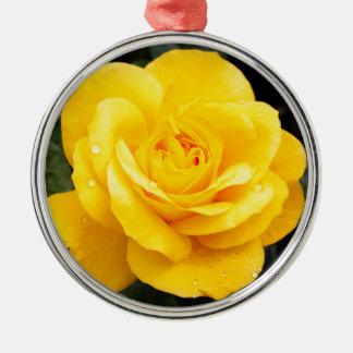 Geel nam toe zilverkleurig rond ornament