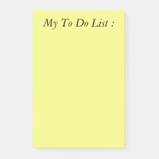 Geel om de Post-it van de Lijst te doen Post-it® Notes