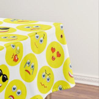 Geel Patroon Emoji Tafelkleed