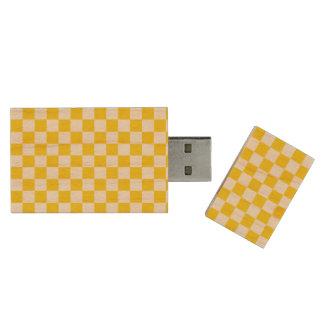 Geel Schaakbord Houten USB 3.0 Stick