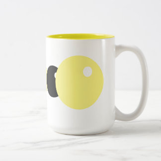 Geel Tweekleurige Koffiemok