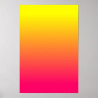 Geeloranje Roze Ombre Poster