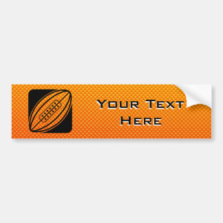 Geeloranje Rugby Bumpersticker