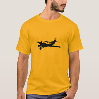 Geeloranje Vliegtuig T Shirt