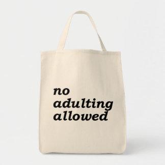 Geen Adulting Toegestaan Canvas tas van de