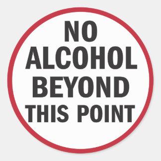 Geen Alcohol voorbij Deze sticker van Punt