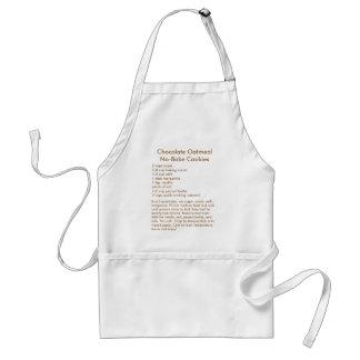 Geen-bak het Recept van het Koekje op een Schort