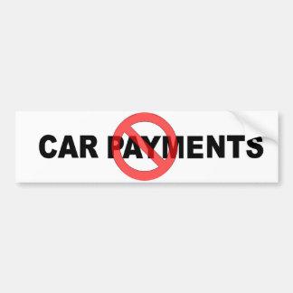 Geen Betalingen van de Auto Bumpersticker