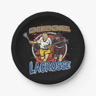 Geen Bloed, Geen Vuile Lacrosse Papieren Bordje