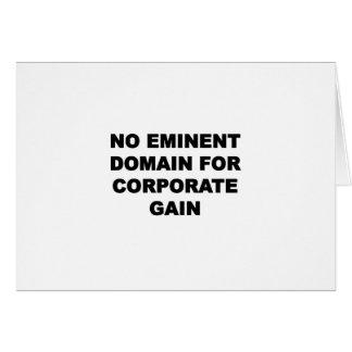 Geen Eminent Domein voor Collectieve Aanwinst Kaart