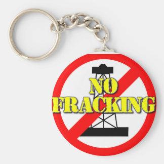 Geen Fracking het UK 2 Basic Ronde Button Sleutelhanger