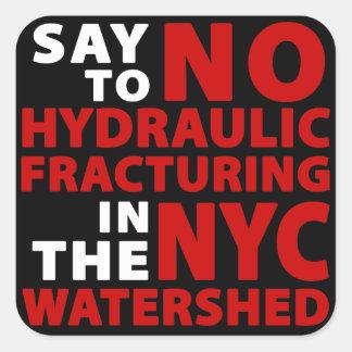 Geen Fracking in Keerpunt NYC - Vierkante Stickers