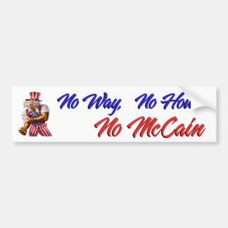 Geen Geen Manier, hoe, Geen McCain Bumpersticker