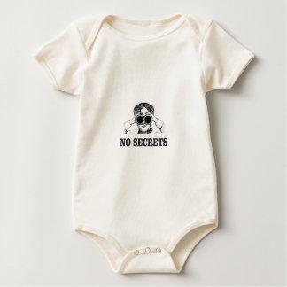 geen geheimen ja baby shirt