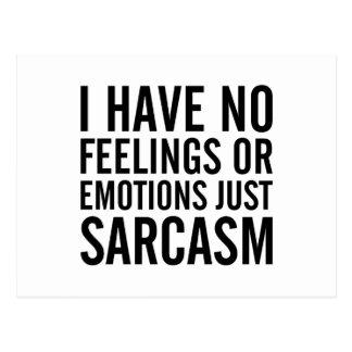 Geen Gevoel of Emoties Briefkaart