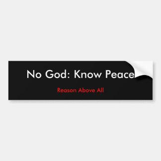 Geen God: Ken Vrede Bumpersticker