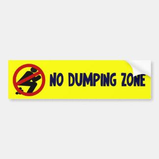 Geen het Dumpen Streek Bumpersticker