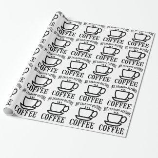 Geen het spreken vóór Koffie. Cadeaupapier