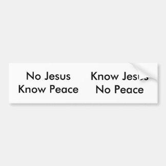 Geen Jesus, kent Vrede Bumpersticker