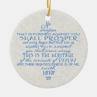 Geen Jodenster van het Wapen Rond Keramisch Ornament