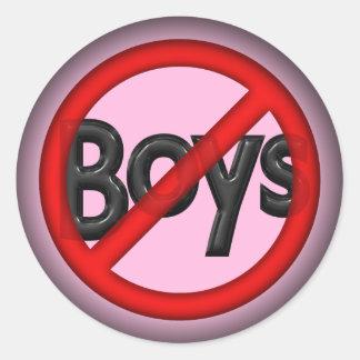 Geen Jongens Ronde Stickers