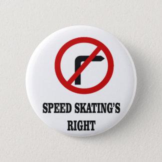 Geen juiste draai in het Schaatsen van de Snelheid Ronde Button 5,7 Cm