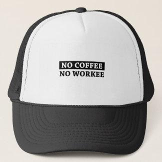 Geen Koffie Geen Workee Trucker Pet