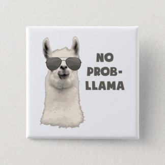 Geen Lama van het Probleem Vierkante Button 5,1 Cm