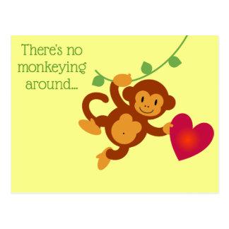 Geen Monkeying rond Briefkaart