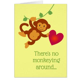 Geen Monkeying rond de Kaart van Valentijn