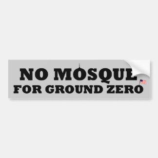 Geen moskee voor grond nul bumpersticker