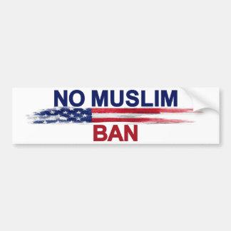 Geen MoslimVerbod Bumpersticker