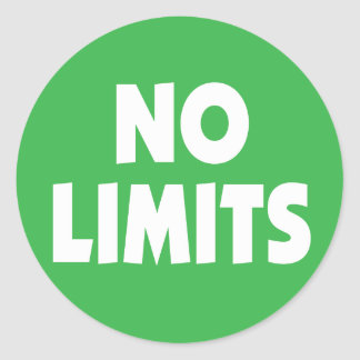 Geen motivatie slogan van Grenzen Ronde Sticker