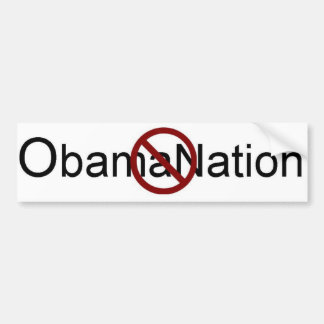 Geen ObamaNation Bumpersticker