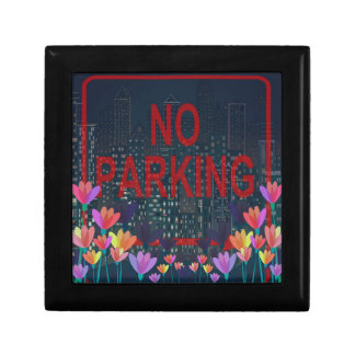 Geen parkeren vierkant opbergdoosje small