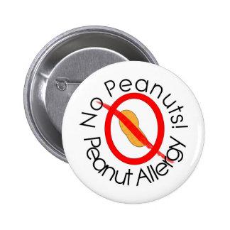 Geen Pinda's! De Allergie van de pinda Ronde Button 5,7 Cm