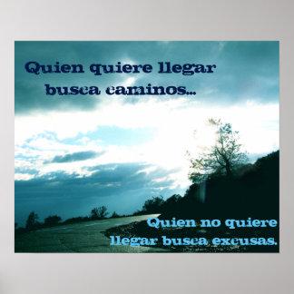 Geen Poster van Verontschuldigingen - het Spaans!