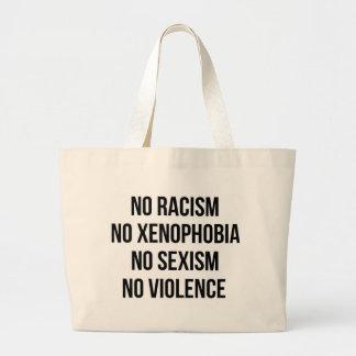 GEEN RACISME, GEEN HOMOPHOBIA, GEEN SEKSISME, GEEN GROTE DRAAGTAS