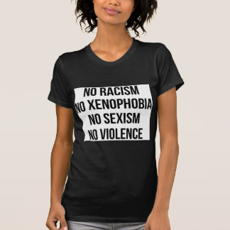 GEEN RACISME, GEEN HOMOPHOBIA, GEEN SEKSISME, GEEN T SHIRT
